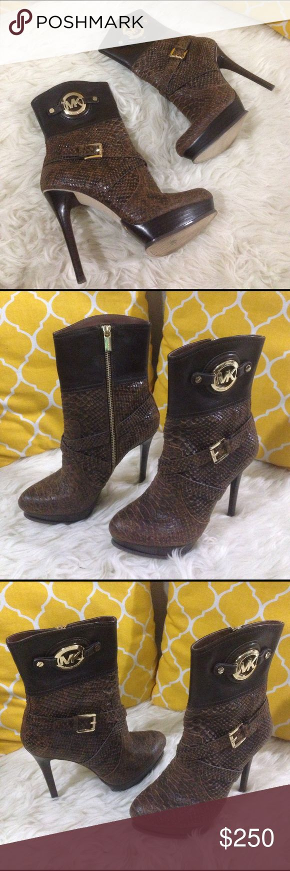 Michael Kors Genuine Leather Boots Size 8 💕Authentic💕Excellent shape. Very nice boots with heels.Don't be shy to make an offer💕 Michael Kors Shoes Ankle Boots & Booties