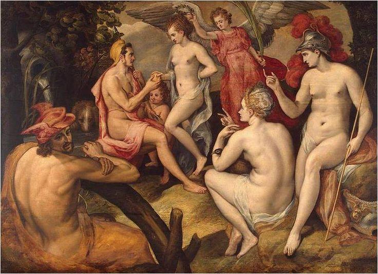 Paridův soud (Judgement of Paris) - Frans Floris