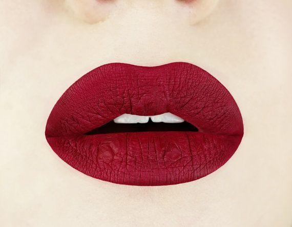 Red Dahlia Matte Liquid Lipstick.  Glossy to Matte Liquid by Aromi