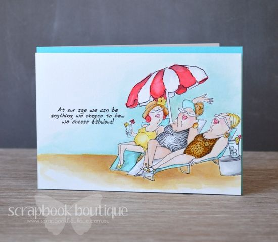 Lostinpaper - Watercolour with Distress Inks - AI Loungers Set - At Our Age for Scrapbook Boutique