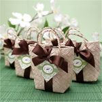 Wedding Favors & Party Supplies - Favors and Flowers :: Favor Packaging :: Favor Bags :: Mini Palm Leaf Favor Bag - 10 pcs