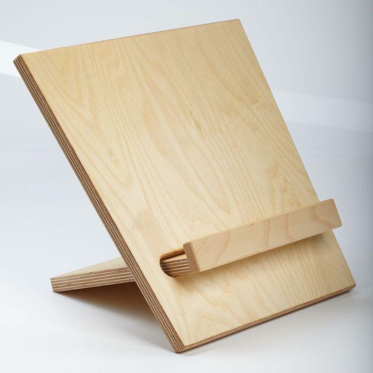 Buchstutze Aus Holz Kochbuchstander Kochbuchhalter Buchhalter Buchstander Mobel Wohnen Dekoration Buchstutze Buchstutze Holz Holz Ideen Notenstander Holz