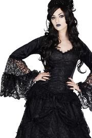 Jovana Black Gothic Top by Sinister