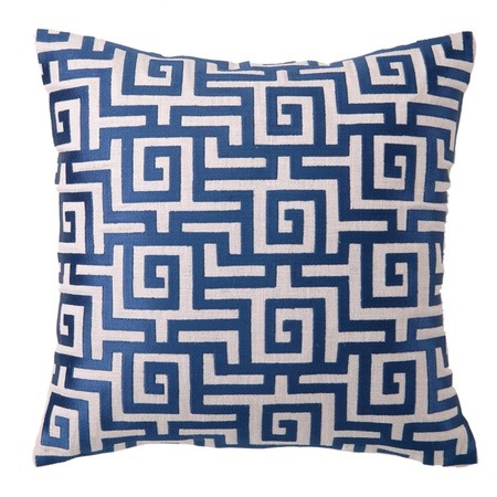 I pinned this Greek Key Pillow in Navy from the Trina Turk & D.L. Rhein event at Joss & Main!: Dl Rhein, Linens Pillows, Rhein Greek, Greek Keys, Embroidered Linens, Embroidered Pillows, Throw Pillows, Throwpillows, Keys Pillows