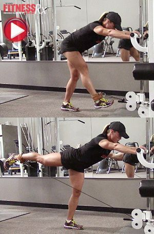 Two Glute-targeting Moves - With Ankle Weight and Cable