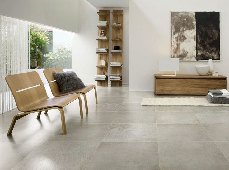 Get The Look Industrial Style With A Polished Concrete Tile White FloorsGrey