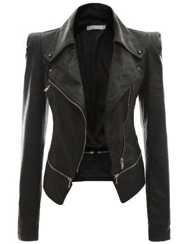 Doublju Women's Zipper Point Simple Faux Leather Jacket BLACK M Doublju http://www.amazon.co.uk/dp/B009C6ILD6/ref=cm_sw_r_pi_dp_-d2bvb110BRS1