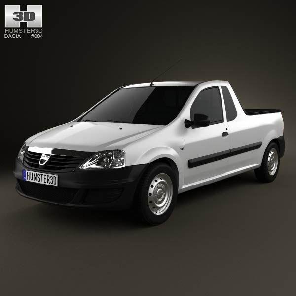Dacia Logan Pickup 2011 3d model from humster3d.com. Price: $75