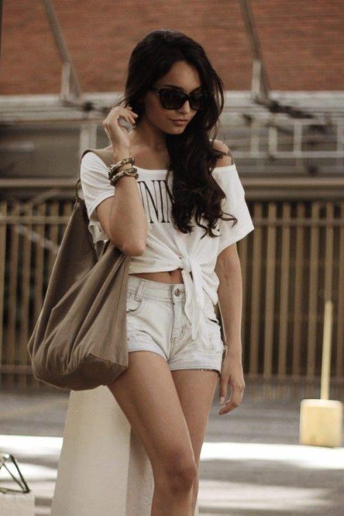 : Vanessa Hudgens, Fashion, Dream Closet, Clothes, Street Style, Summer Outfits, Shorts, Vanessahudgens, Hair