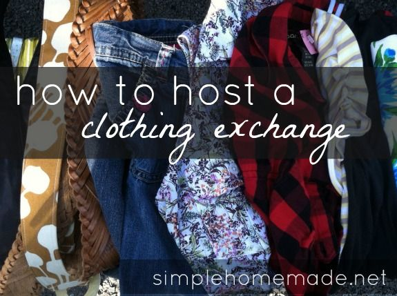 This would be AWESOME! How to host a clothing exchange!