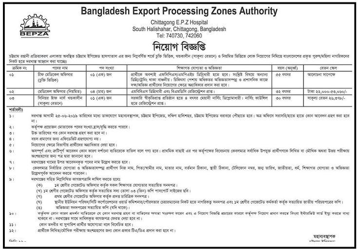 BEPZA Job Circular Apply 2021 - www.bepza.gov.bd