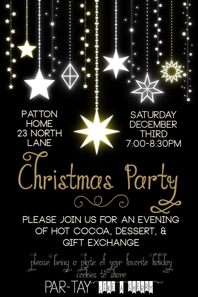 free editable christmas party invitation- so elegant! this will be perfect for our dinner party.