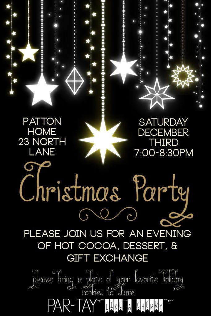 Pinterest\'te 25\'ten fazla benzersiz Christmas party invitation ...