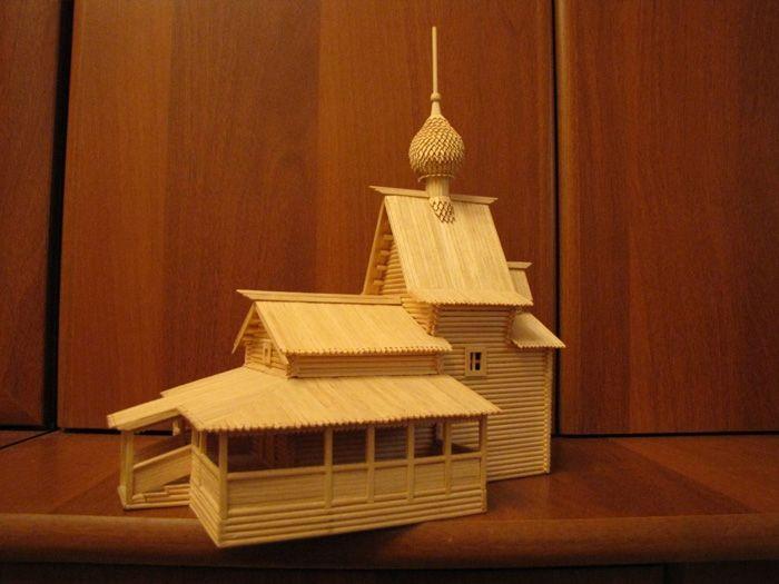 картинки церквей сделанные из спичек