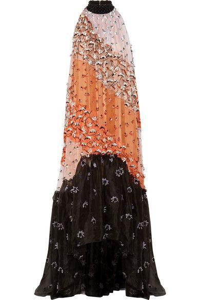 Roksanda   Olbia appliquéd asymmetric silk-organza gown   NET-A-PORTER.COM