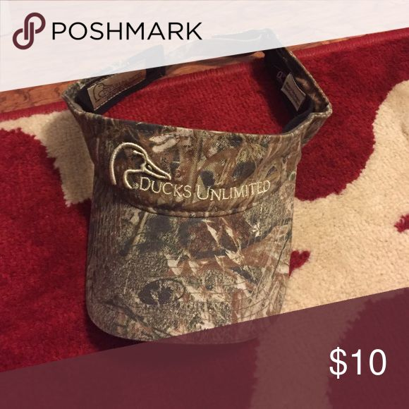 Ducks unlimited visor Ducks unlimited visor-- gently used Ducks Unlimited Accessories Hats