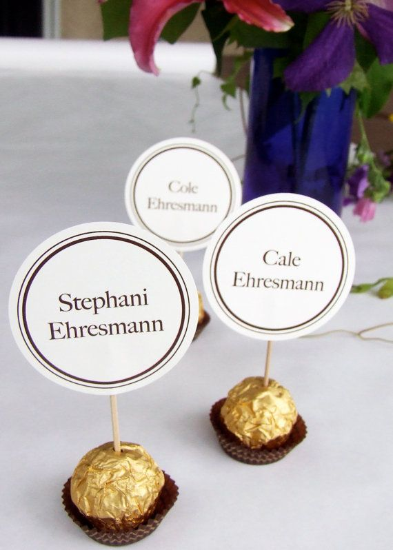 Unique Wedding Reception Ferrero Rocher by DesignsByDirection, $1.25