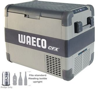 WAECO CFX-D65DZ DUAL ZONE 12/24v & 100-240v FRIDGE/FREEZER + FREE WIRELESS DISPLAY - WEB SALES ONLY Chest Fridge/Freezer