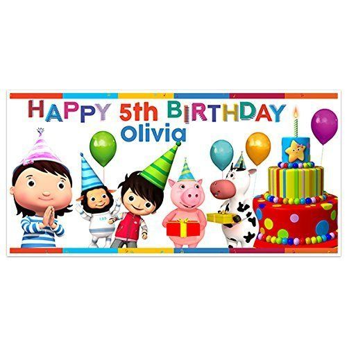 Amazon Com Little Baby Bum Birthday Banner Party Decoration