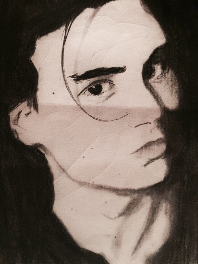 Charcoal- face profile