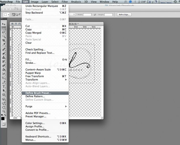 Have a logo or watermark that you use often? Turn it into a brush preset. | 21 Incredibly Simple Photoshop Hacks Everyone ShouldKnow