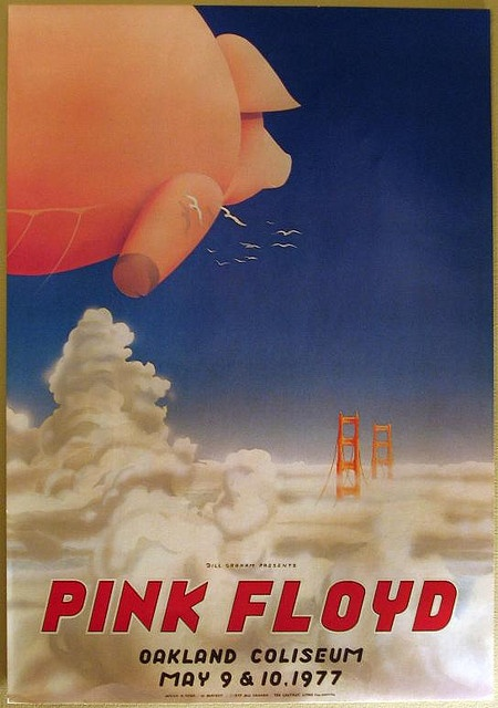 5/9-10/ 1977 ..... Oakland Coliseum .... Pink Floyd ..... artists ..... RANDY TUTEN ..... WILLIAM BOSTEDT