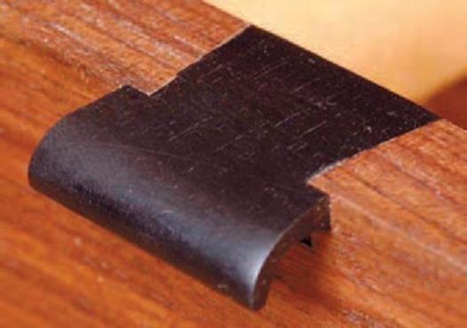 Ebony drawer pull