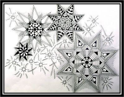 #Zentangle Challenge #114 | Xplore & Xpress from Sharon Michaelson @zandiepants this is a lovely example