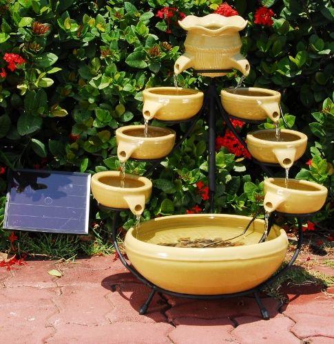 cascading solar fountain - Solar Water Fountain