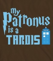 Doctor Who: My Patronus Is A TARDIS (Now if only the Doctor would come out of the TARDIS and personally dispel all of the dementors. A girl can dream, right?)