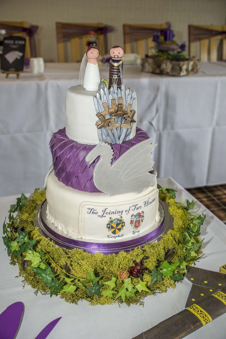 Wedding theme related cake.