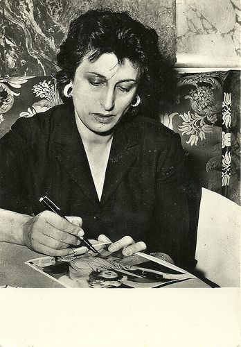 Anna Magnani  Italian postcard by Bromostampa, Milano. Series 'Hobby'.