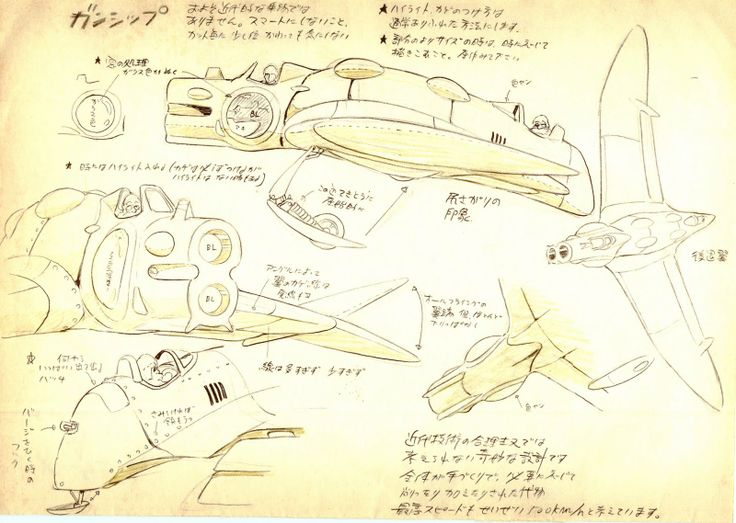 Living Lines Library: 風の谷のナウシカ / Nausicaä of the Valley of the Wind (1984) - Prop Design