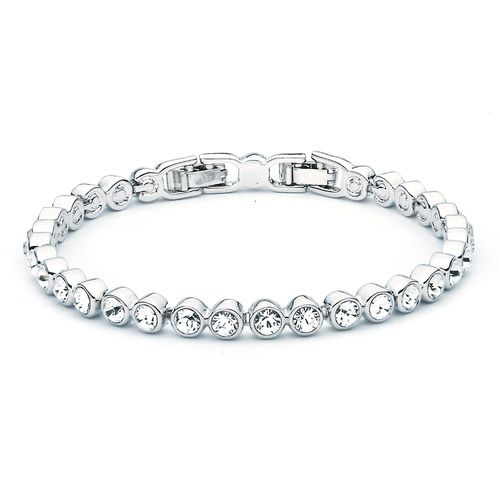Tennis Bracelet with Swarovski® Crystals