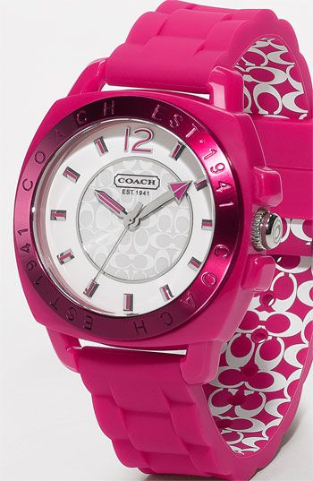 Top pinned: COACH Boyfriend Rubber Strap Watch