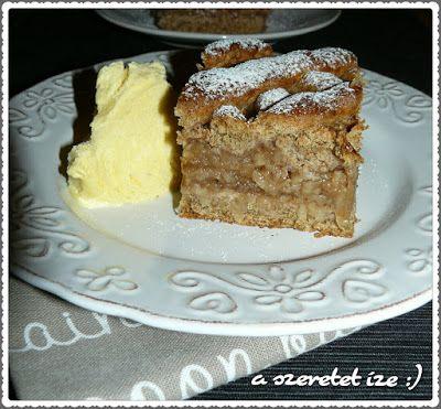 A szeretet íze: Almás pite teljes kiőrlésű lisztből, tojás nélkül:...