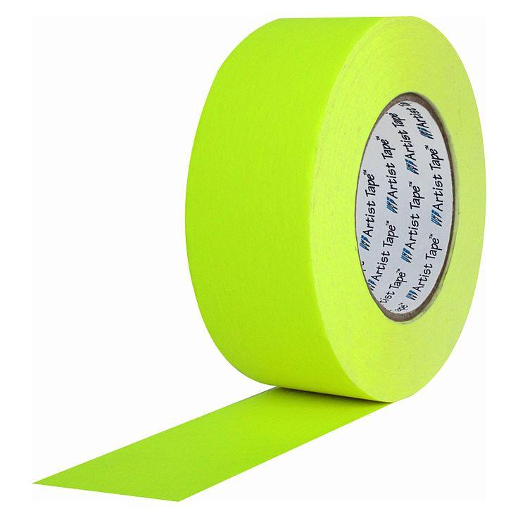 Artist Tape Fluorescent Yellow