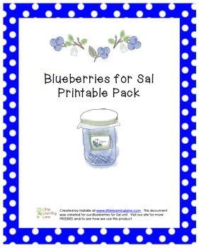 $1 Blueberries for Sal Printable Pre-K Pack - visit my TPT store for Blueberries for Sal FREEBIES! (www.littlelearninglane.com)