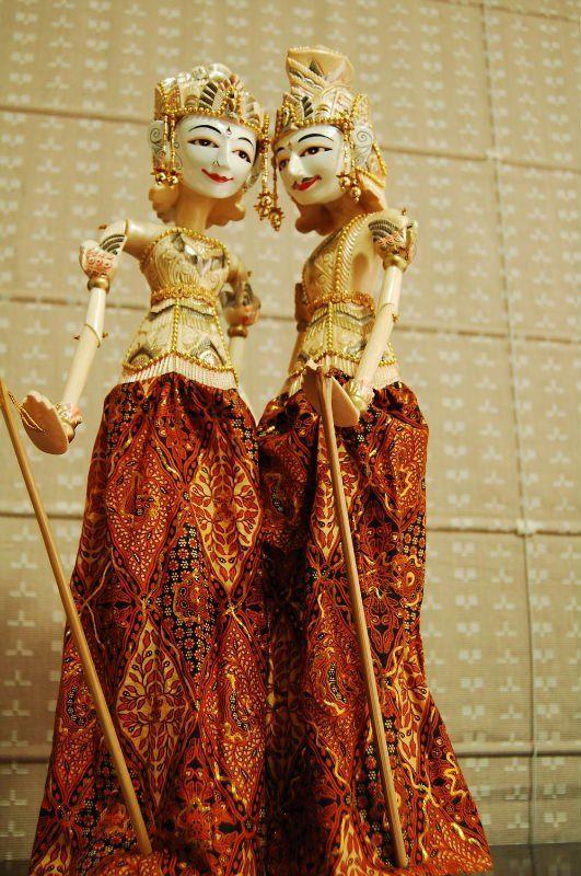 wayang golek rod puppet marionettes