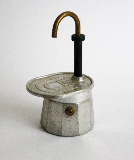 Vintage Italian Coffe Maker Mini express Stovetop by DoubleRandC