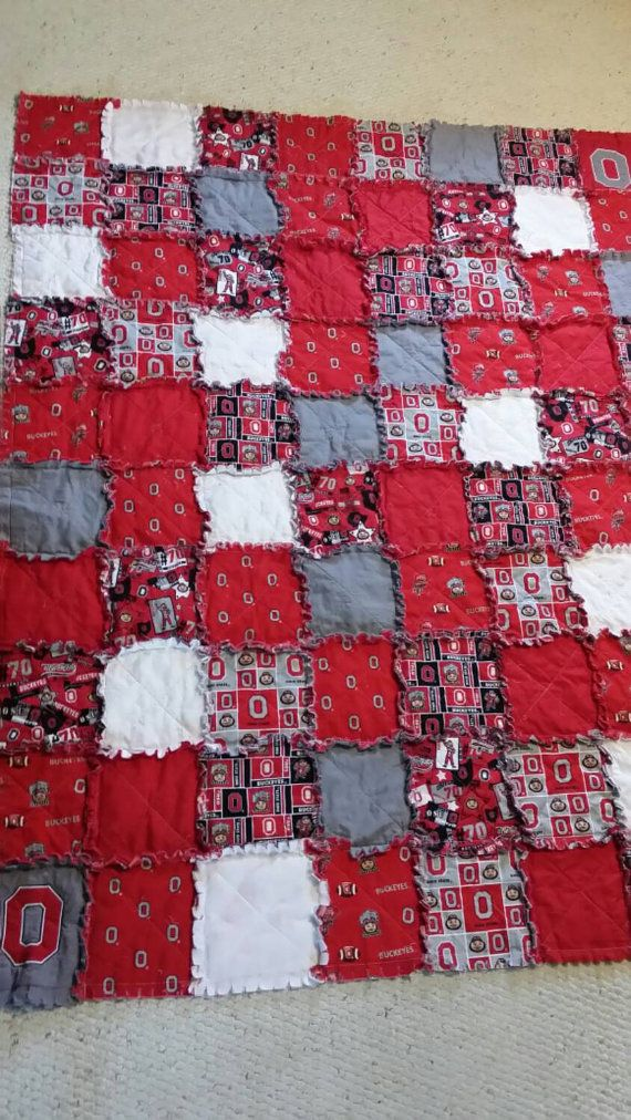 Check out this item in my Etsy shop https://www.etsy.com/listing/230625775/ohio-state-buckeyes-football-rag-quilt