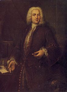 Joseph Bodin de Boismortier (1689-1755) was a French baroque composer of instrumental music, cantatas, opéra-ballets, and vocal music. He obtained a royal license for engraving music in 1724, and made money by publishing his music for sale to the public. In 1724 he moved to Paris where he began a composition career. His first works appeared in 1724, and by 1747 he had published more than 100 works in  vocal and instrumental combinations. His music was extremely popular and made him wealthy.