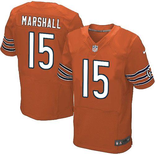nfl mens elite nike nfl chicago bears 15 brandon marshall alternate orange jersey 129.99