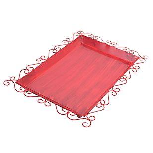Mica Bandeja de metal antique roja 46 x 31 x 4 cm... still thinking....