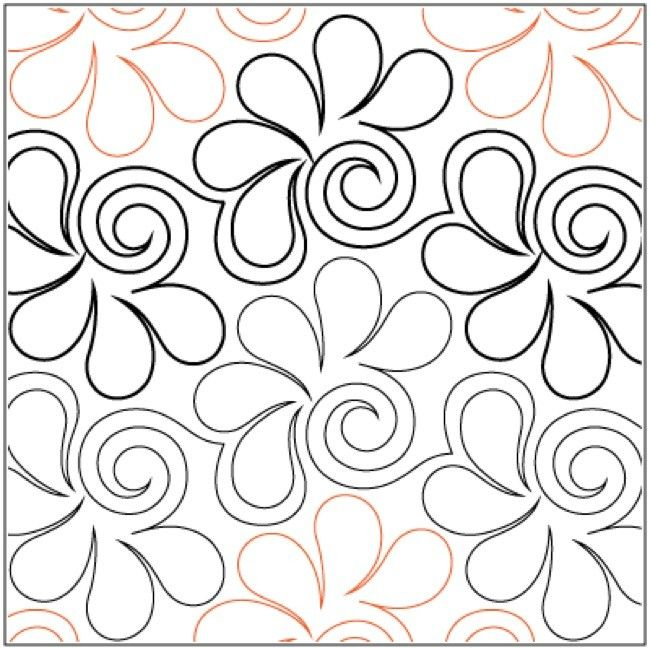 1000 images about quilting pantographs on pinterest snowflakes stencils and machine quilting for Quilting pantographs free