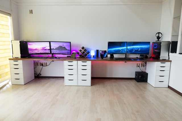 His And Hers Battlestations Imgur Game Room Game Room Decor Game Room Design