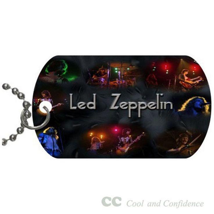 Custom Led Zeppelin best Pet Dog Tag pendant necklace Chain #DIY