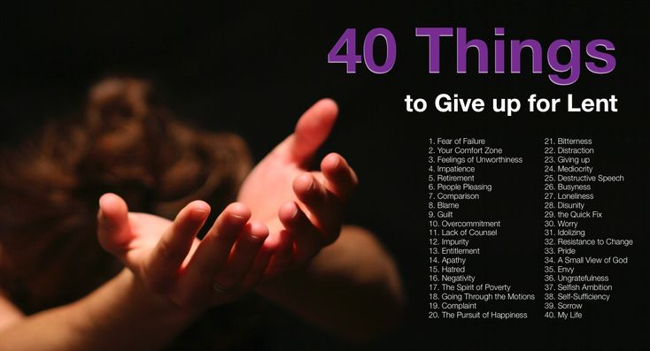 """Ash Wednesday and the beginning of Lent is just around the corner. As this season of Lent approaches, many of us think about something to """"give up."""" Unfortunately, these things often ha..."""