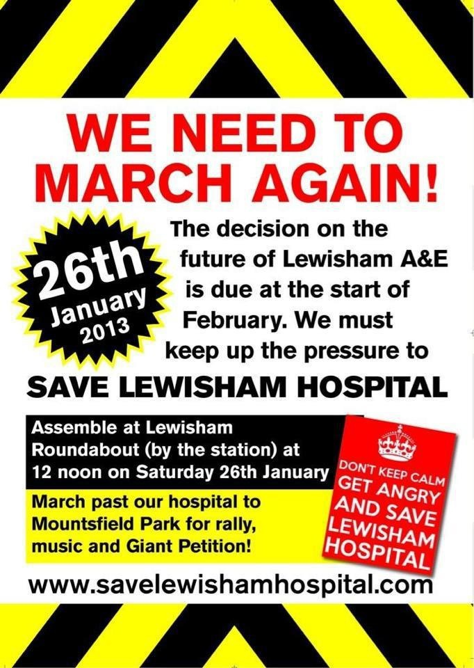 Save Lewisham Hospital #savelewishamhospital