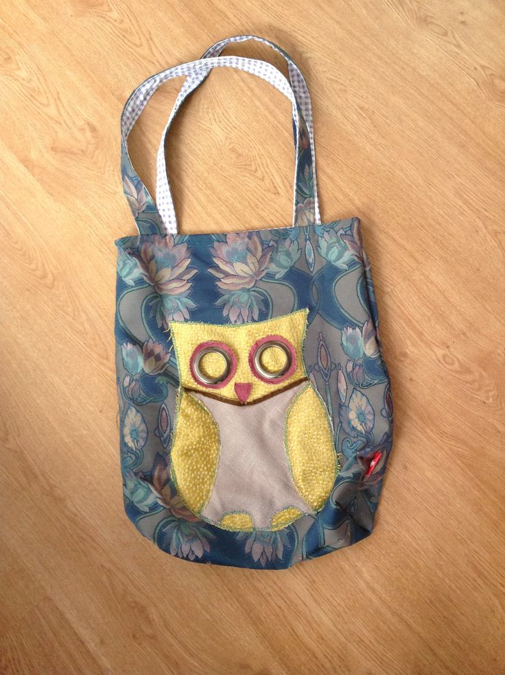 Carpet bucket bag made from upholstery remnants - with a funky lining